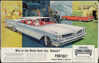 Pontiac Drawing - 'vista-lounge Interiors With  Seats by Mary Evans Picture Library