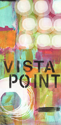 Abstract Mixed Media - Vista Point- contemporary abstract art by Linda Woods
