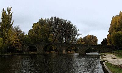 Del Rio Digital Art - Vista Puente Romano Navaluenga by Raul Diaz Cereza