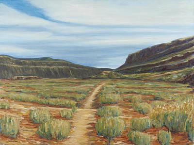 Painting - Vista Verde Trail I Rio Grande Gorge Nm by David  Llanos
