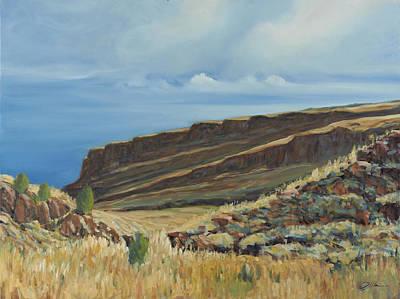 Painting - Vista Verde Trail II Rio Grande Gorge Nm by David  Llanos