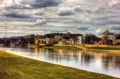 Vistula River In Cracow Art Print by Pati Photography