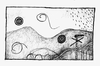 Metaphor Drawing - Visual Metaphors - Rolling Hills by Andy  Mercer