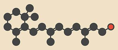 Vitamin A Molecule Art Print