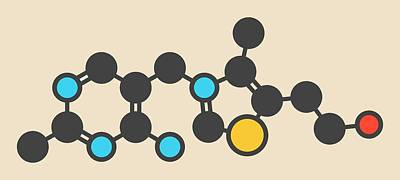 Coenzyme Photograph - Vitamin B1 Molecule by Molekuul
