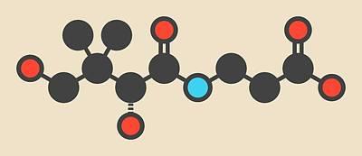 Vitamin B5 Molecule Art Print by Molekuul