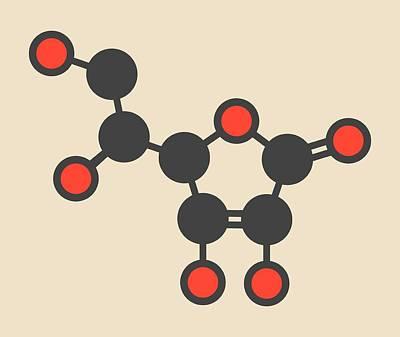 Vitamin C Molecule Art Print