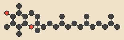 Ro Photograph - Vitamin E Molecule by Molekuul