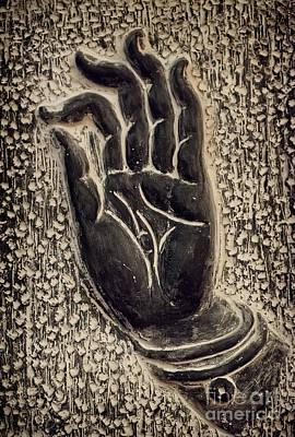 Hand Photograph - Vitarka Mudra Buddhist Hand Gesture by Oleksiy Maksymenko