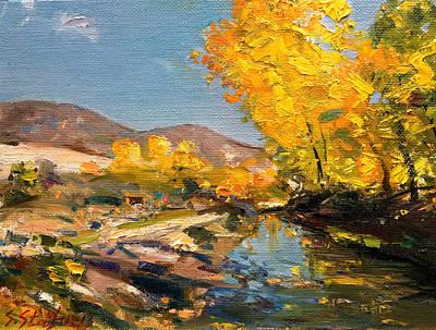 Painting - Vithkuq Korca - Autumn  by Sefedin Stafa
