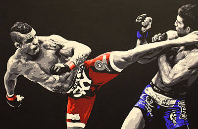 Painting - Vitor Belfort Kick by Geo Thomson