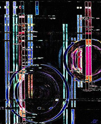 Digital Art - Vitreous Moons by Stephanie Grant