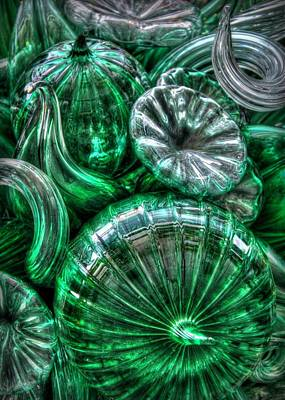 Photograph - Vitreous Verdant Abstract by Jeff Cook
