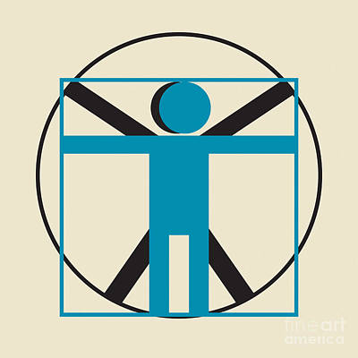 Digital Art - Vitruvian Man Simplified    by Igor Kislev