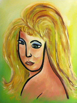 Painting - Viva Bouffant by Donna Blackhall