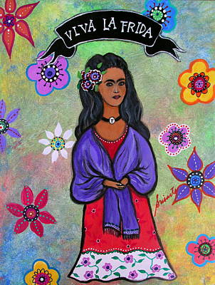 Painting - Viva La Frida by Pristine Cartera Turkus