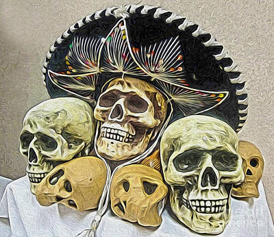 Painting - Viva Los Muertos by Gregory Dyer