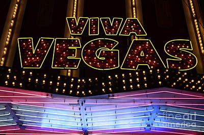Freemont Street Photograph - Viva Vegas Neon by Bob Christopher