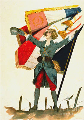 Vive La France 1918 Art Print