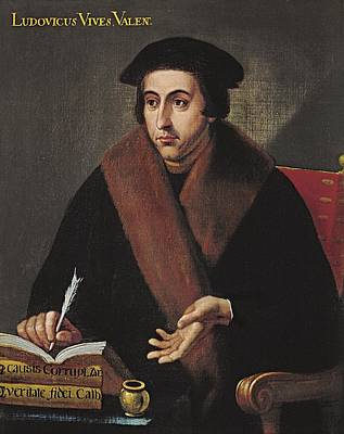 Vives, Juan Luis 1492-1540. Humanist Print by Everett
