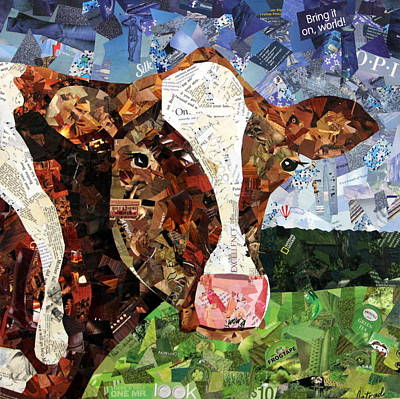 Cows Mixed Media - Vivi by Paula Dickerhoff