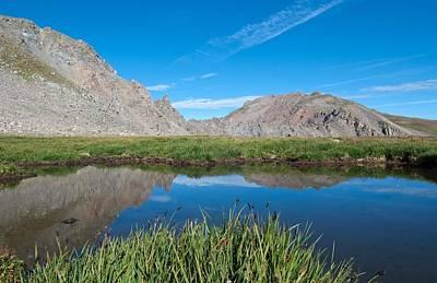 Photograph - Harvard Peak Alpine Reflection by Cascade Colors
