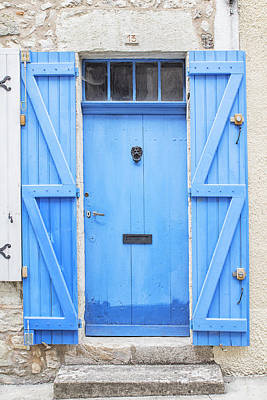 Vivid Blue Door Art Print by Georgia Fowler