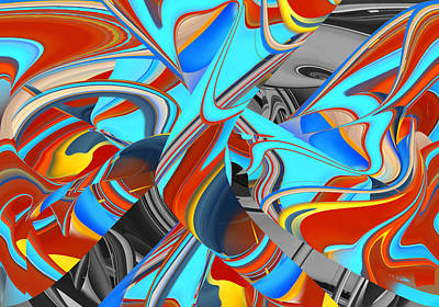 Digital Art - Vivid Color I Abstract by rd Erickson