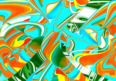 Digital Art - Vivid Color II Abstract by rd Erickson