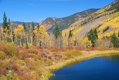 Photograph - Vivid Colors Of Autumn - Colorado Landscape by Cascade Colors