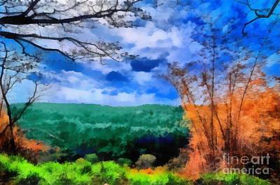 Vivid Landscape Art Print by George Paris