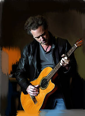 Vivid  Lindsey Buckingham  Art Print by Iconic Images Art Gallery David Pucciarelli