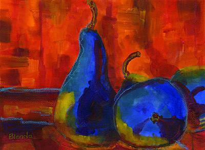 Wall Art - Painting - Vivid Pears Art Painting by Blenda Studio