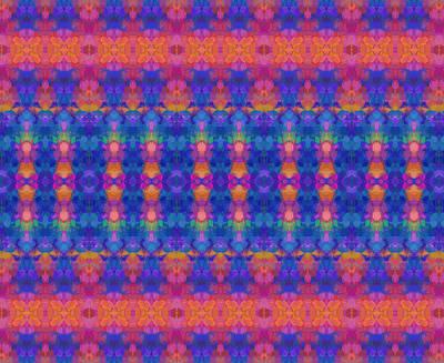 Stripes Mixed Media - Vivid Stripe Abstract by Georgiana Romanovna