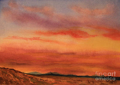 Painting - Vivid Sunset by Roena King