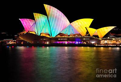 Photograph - Vivid Sydney 2014 - Opera House 1 By Kaye Menner by Kaye Menner