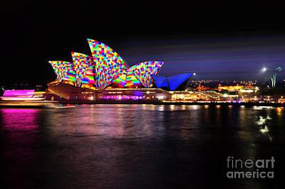 Photograph - Vivid Sydney 2014 - Opera House 5 By Kaye Menner by Kaye Menner
