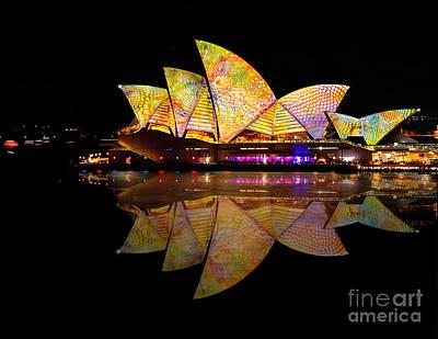 Photograph - Vivid Sydney 2014 - Opera House 6 By Kaye Menner by Kaye Menner