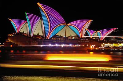 Photograph - Vivid Sydney By Kaye Menner - Opera House... Patterns by Kaye Menner