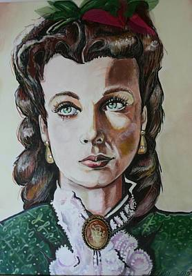 Vivien Leigh Gone With The Wind Art Print by Maria Thatcher