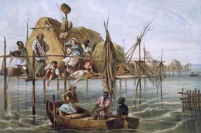 Vivienda De Los Pescadores De Esponjas Art Print by Spanish School