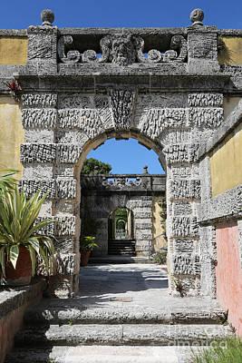 Photograph - Vizcaya Archways by Carol Groenen