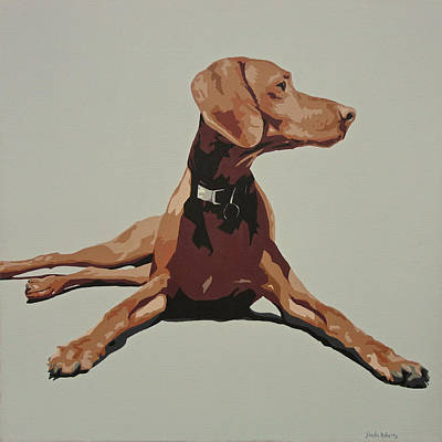 Dog Portrait Painting - Vizsla 3 by Slade Roberts