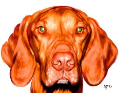 Buy Dog Art Digital Art - Vizsla Dog Art Portrait by Iain McDonald