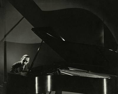 Pianist Photograph - Vladimir Horowitz At A Grand Piano by Edward Steichen