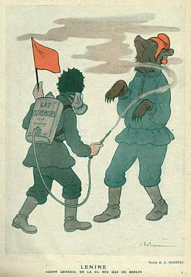 Vladimir Ilich Ulyanov  Lenin  Knocking Art Print