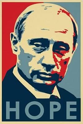 Putin Painting - Vladimir Putin Hope by Krystal