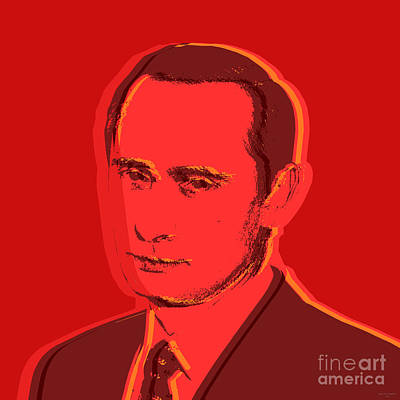Digital Art - Vladimir Putin by Jean luc Comperat