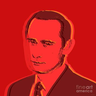 Putin Digital Art - Vladimir Putin by Jean luc Comperat