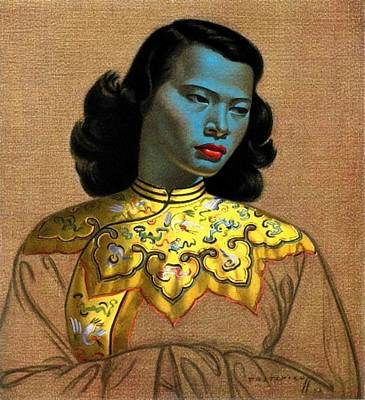 Russian Girl Wall Art - Painting - Vladimir Tretchikoff's 'the Chinese Girl, The Green Lady' by Krystal
